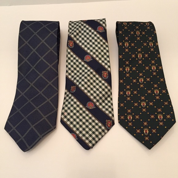 a83a89a47329 Tommy Hilfiger Accessories | Mens Ties Lot Of 3 Silk Neckties | Poshmark